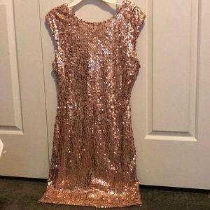 Rose gold sequin sleeveless dress- NWT